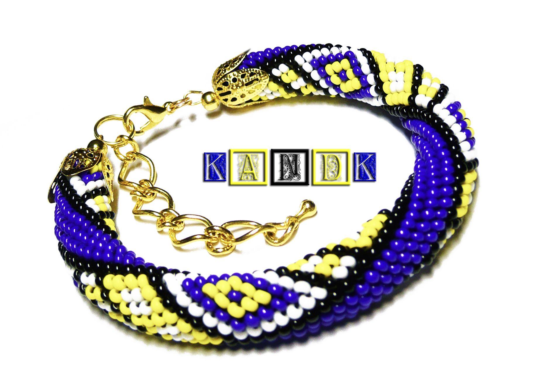wristlet beads yellow bright jewelry blue