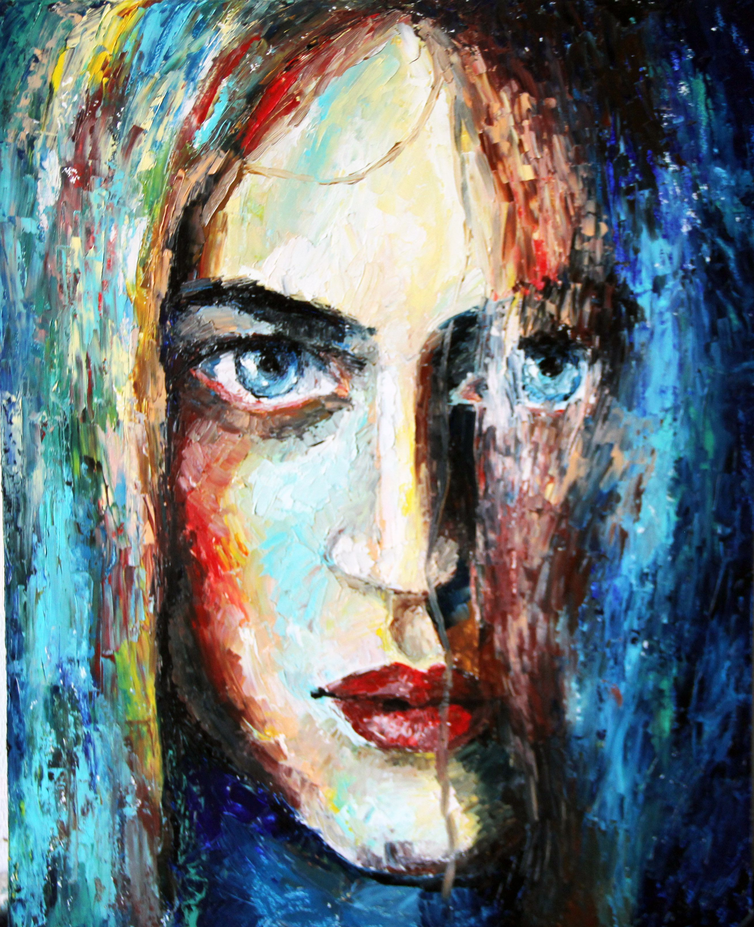 woman portrait oilpainting people