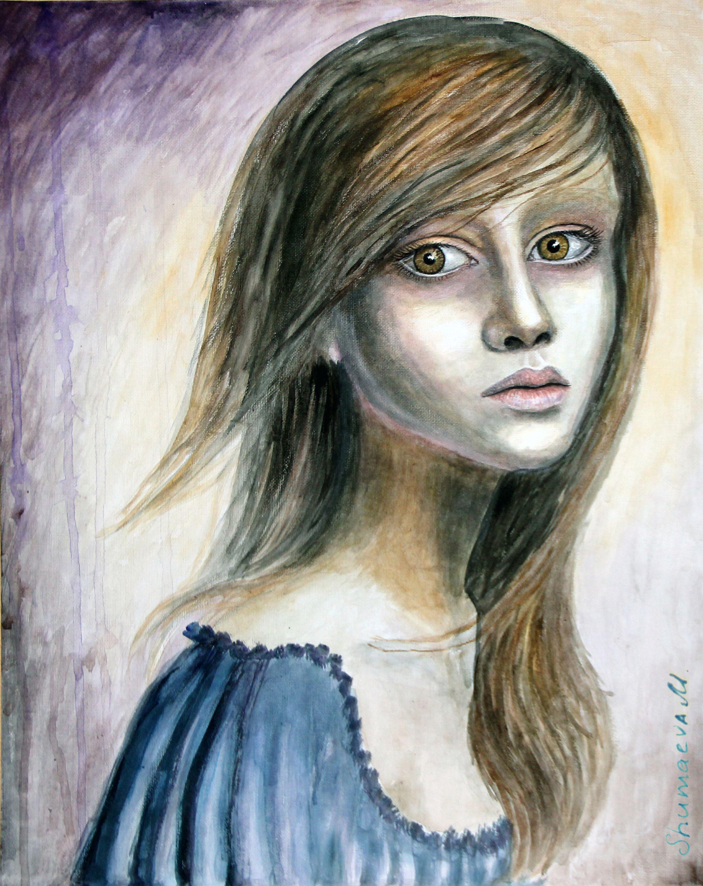 girl portrait acrylicpaints woman picture