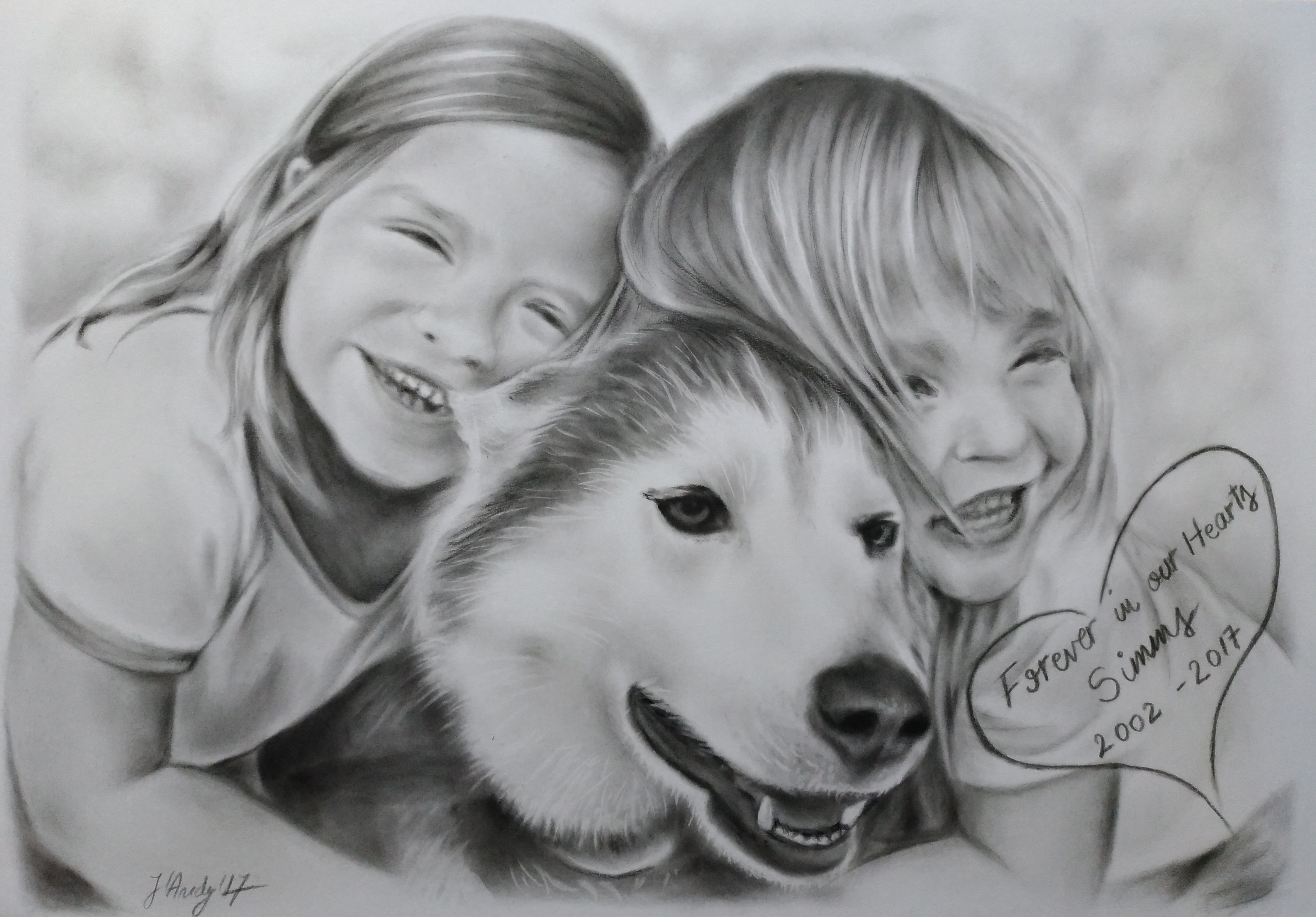 customportrait christmasgift presentgift artwork familyportrait