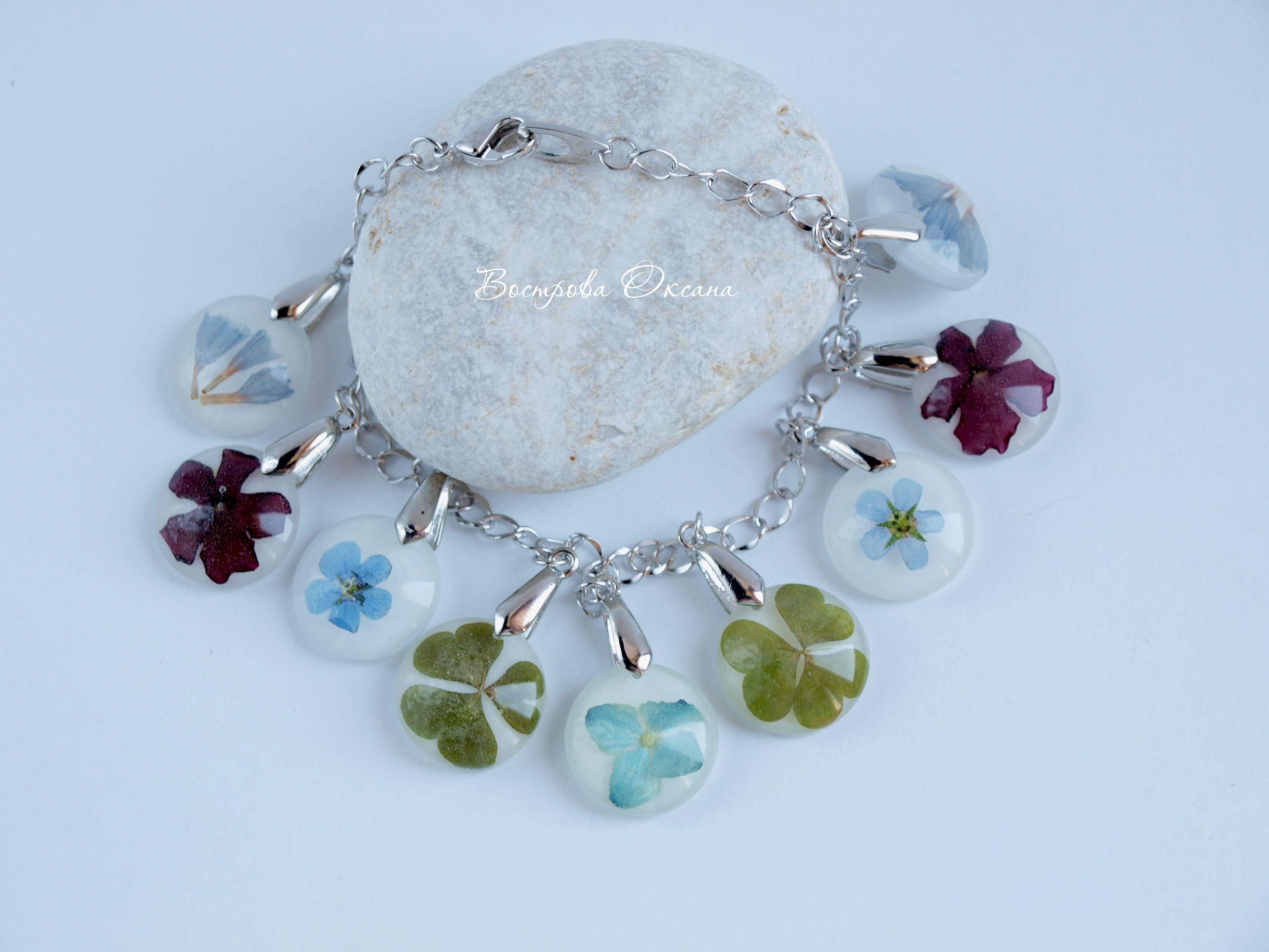 bracelet herbs handmade summer