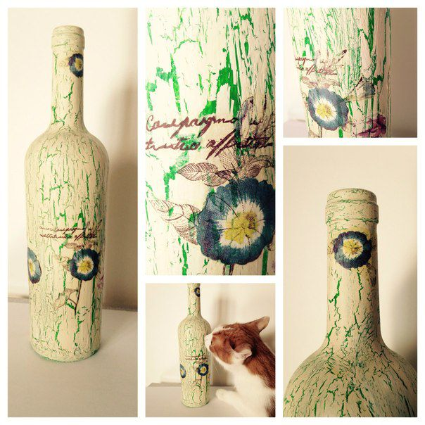 decor acrylic interior bottle white