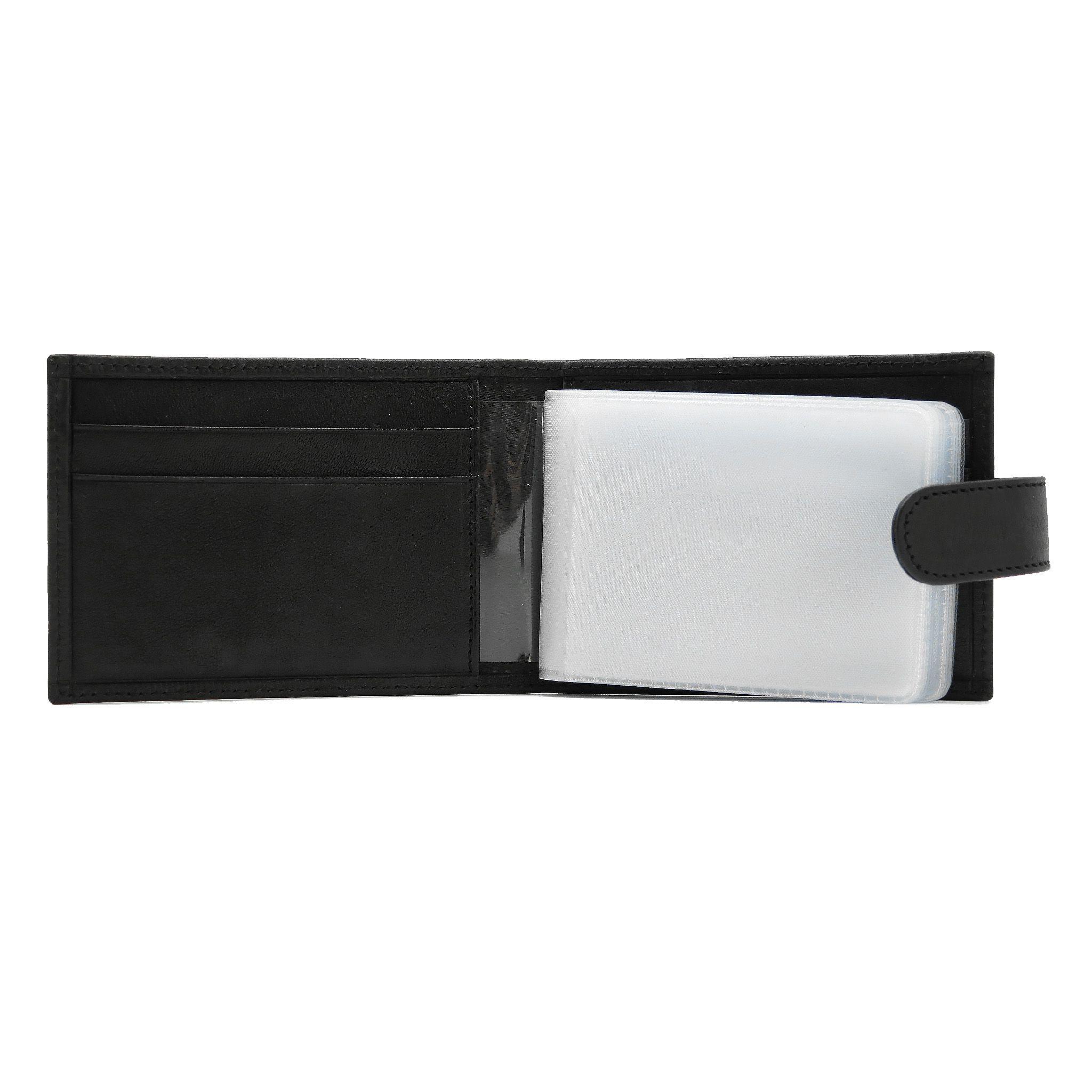 accessories leather black handmade cardholder
