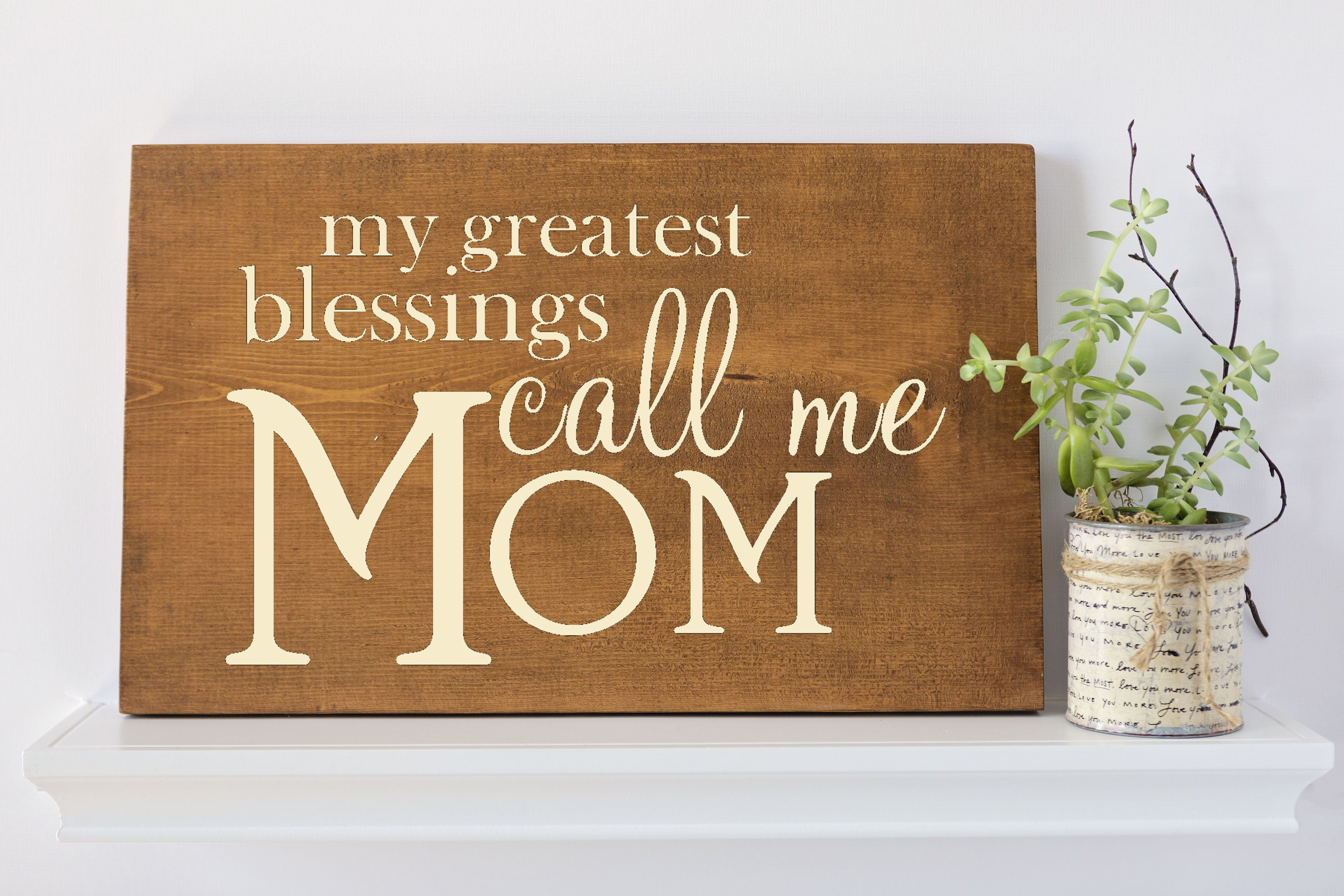 Mother Gift Rustic Wood Decor Gifts For Her Wall Art Quote Signs Quotes About Mom Quote Wall Art Gifts For Mom Customized Quote Sign