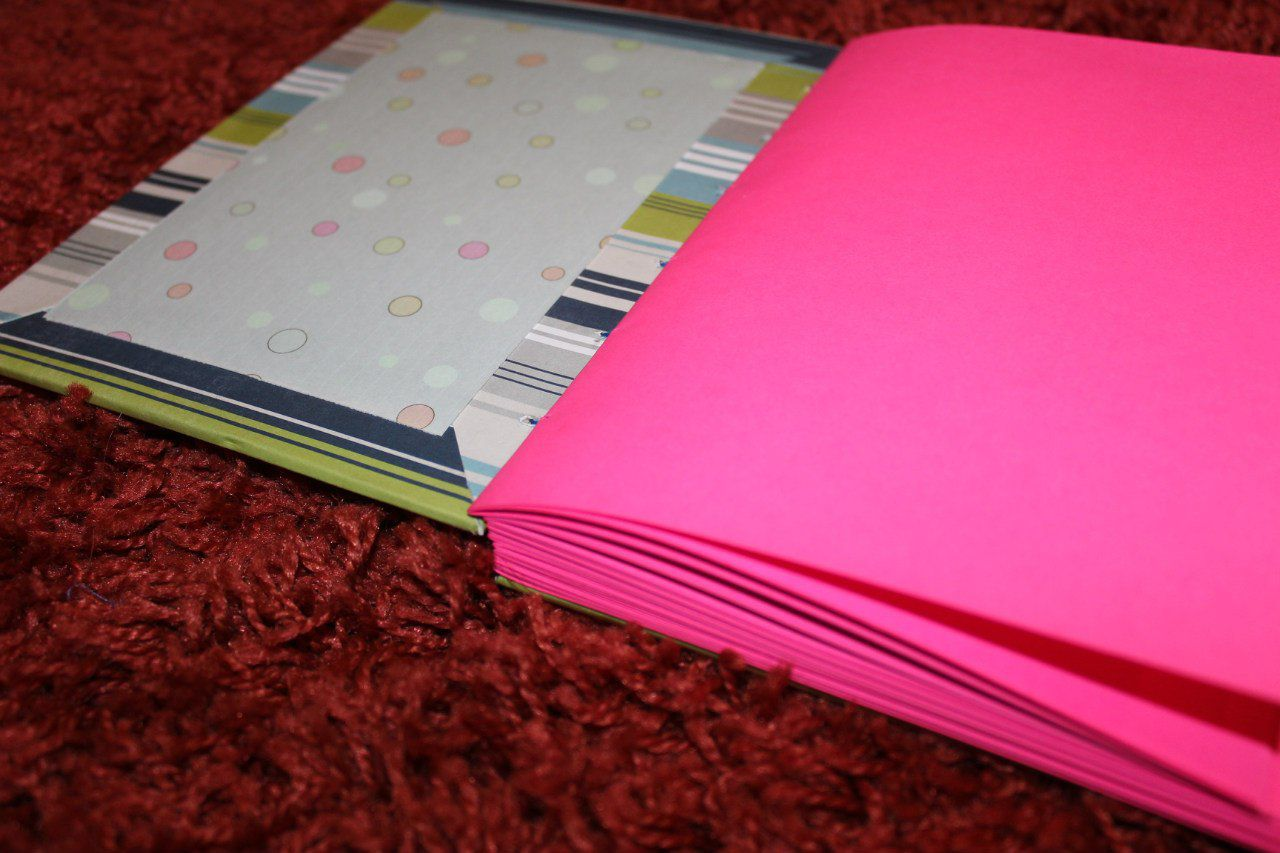 handmade notebook pink
