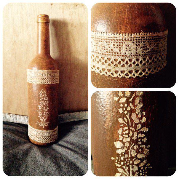 decor interior lace acrylic bottle