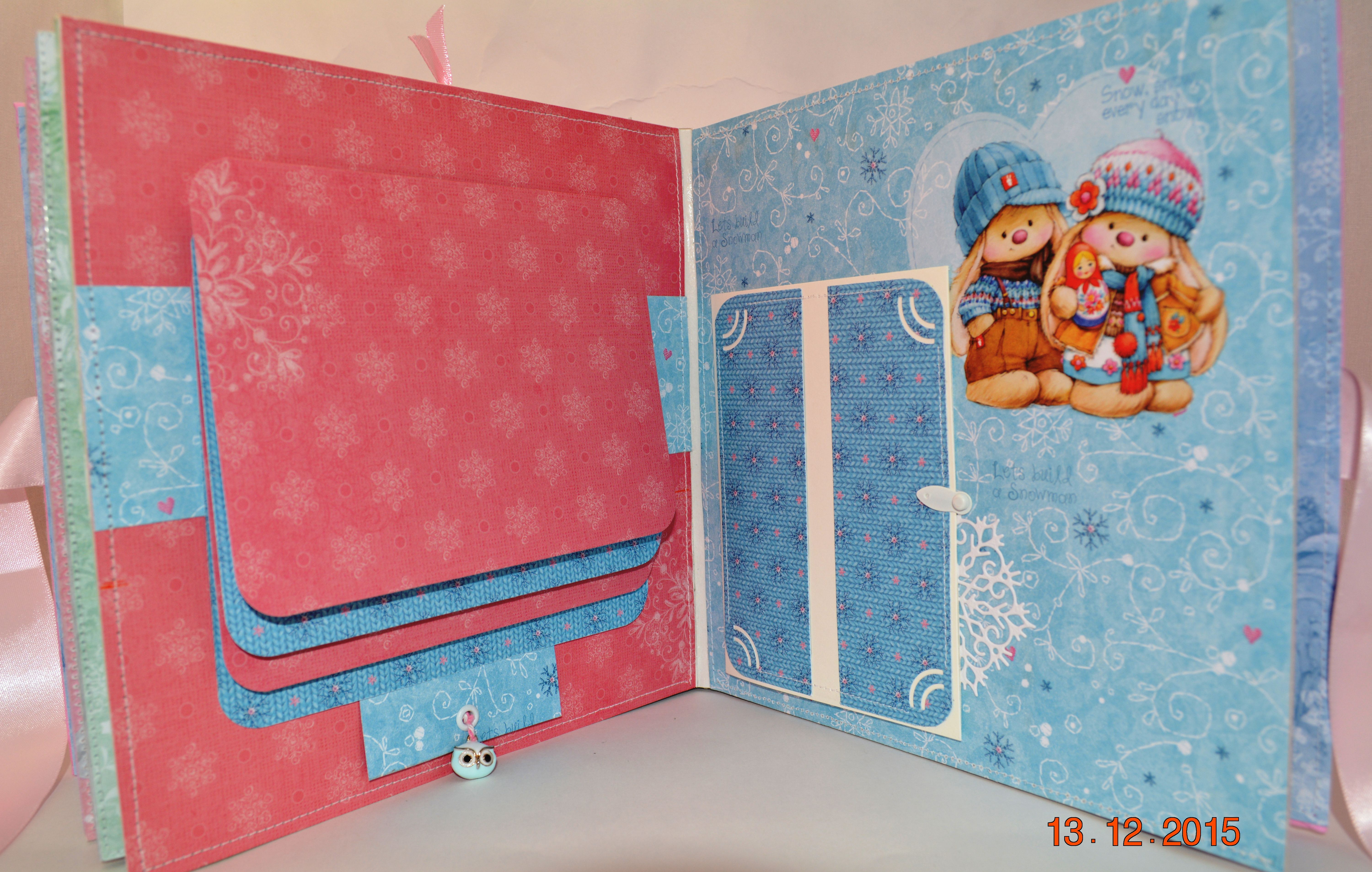 gift photo kids album pink