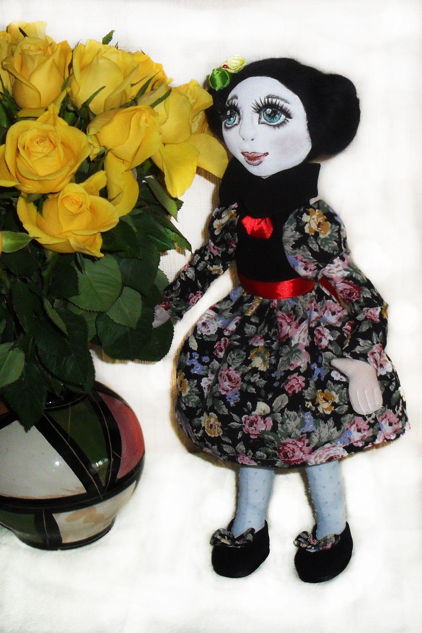 handmade doll vintage interior textile