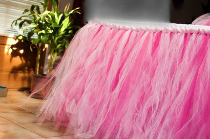 ribbon skirt tablecloth table tulle