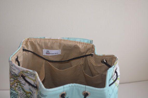 bag rucksack daily back printed school maps travel worldmaps world handmade map unisex backpack