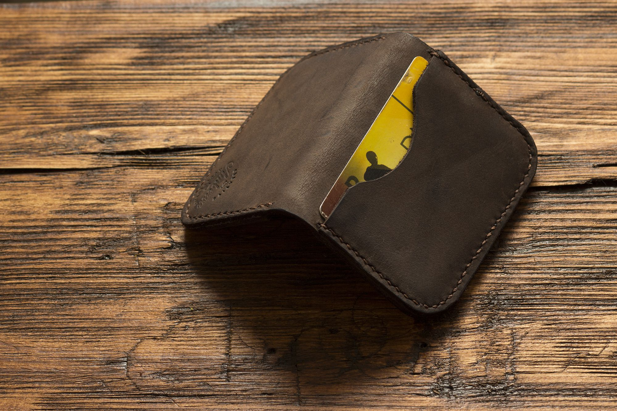 card leather credit cash slim handmade wallet holder business