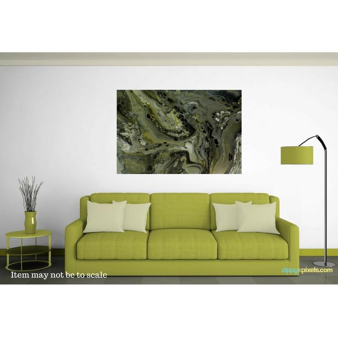 wallart abstractart silverart gennhaio largepainting acrylicpour artwork