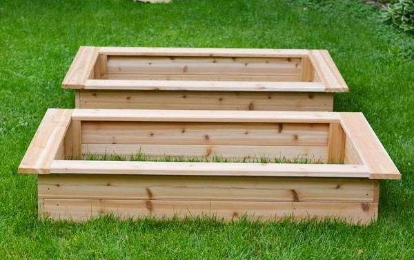 garden bed wood make raised