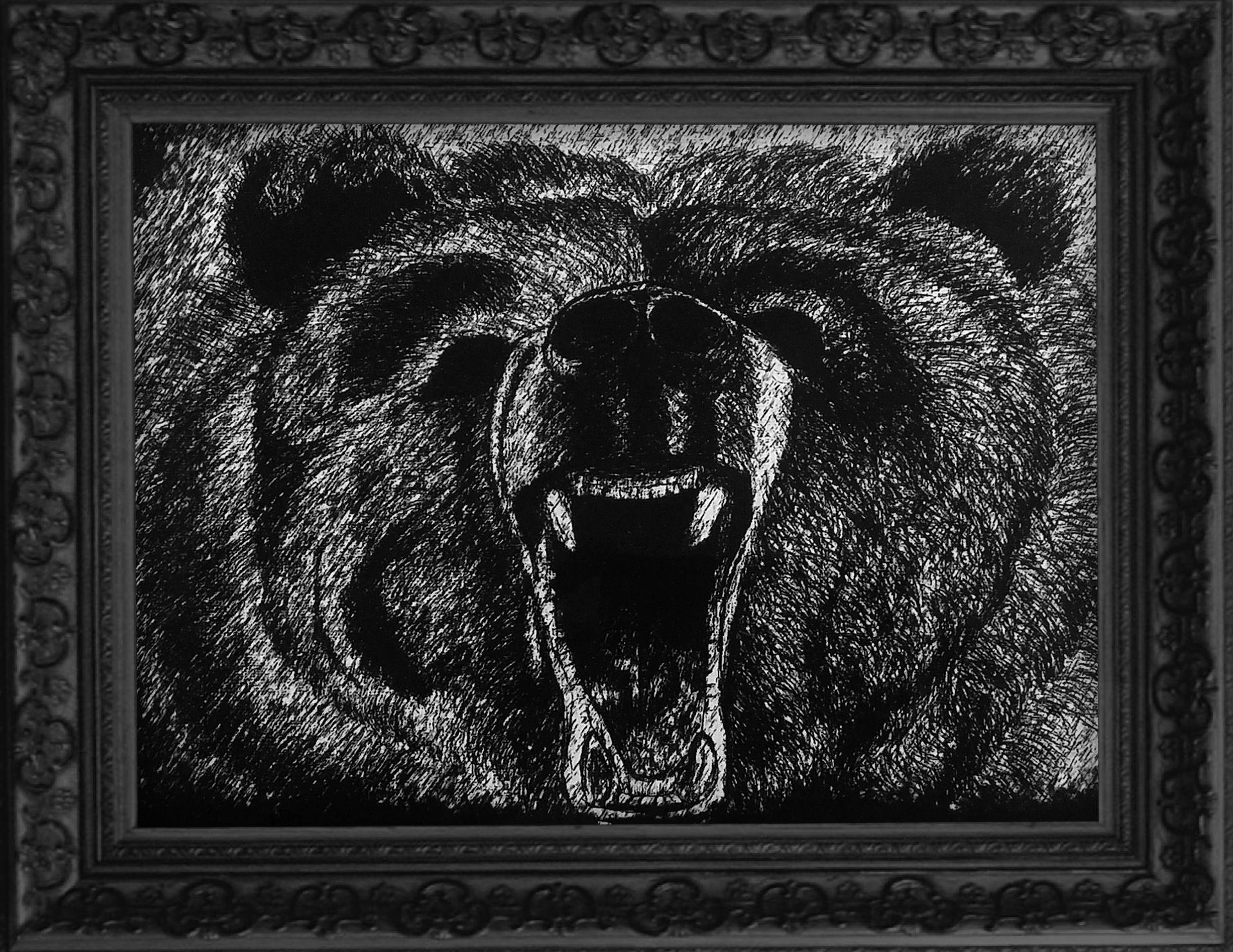 gift halloween present decor christmas home animal man bear wild wildlife cave hunting hunt hunter roar roaring angry