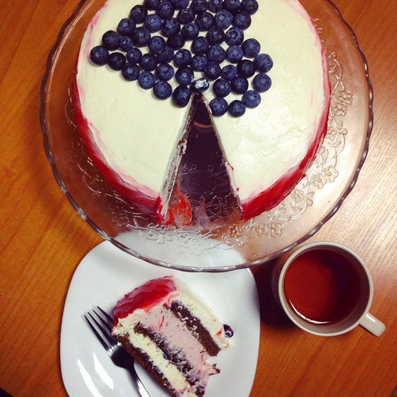 strawberry mousse yummy cake gift handmade
