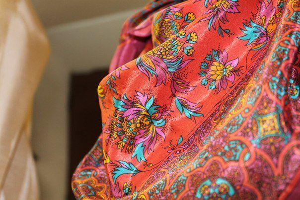 handkerchief colorful clothes bright silk