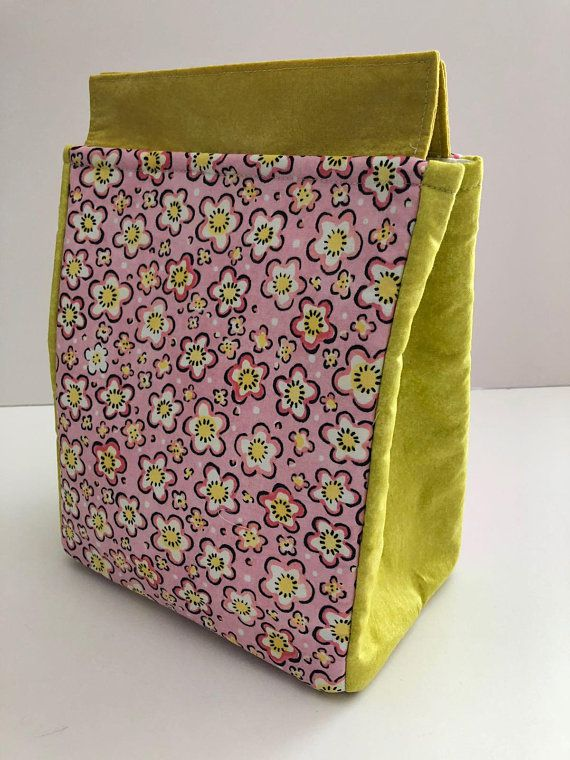 bag flowery lunch insulated