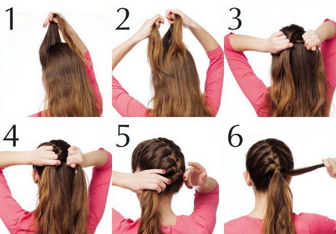 hair braid lesson plait french