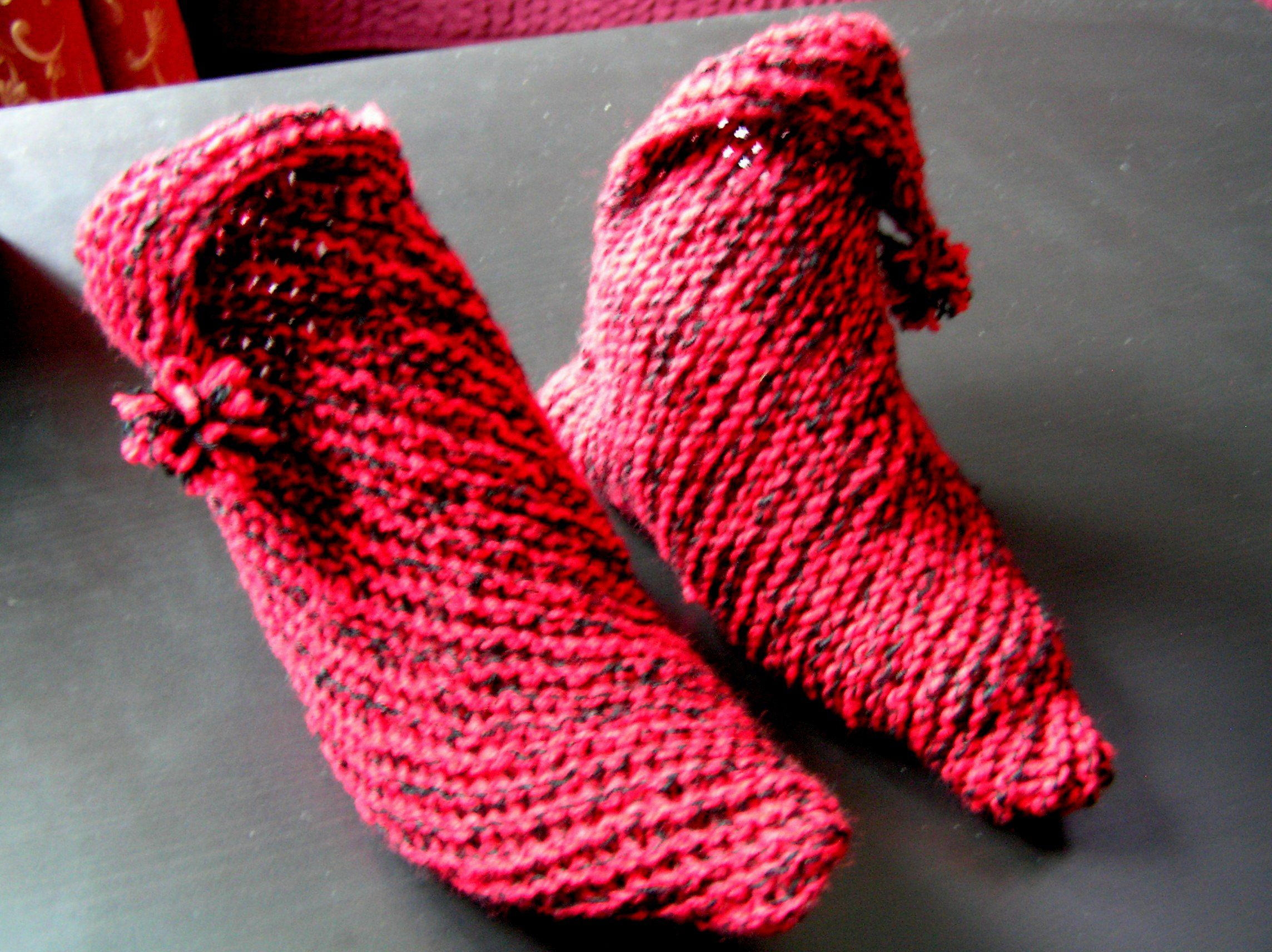 clothes knitting socks red wool winter