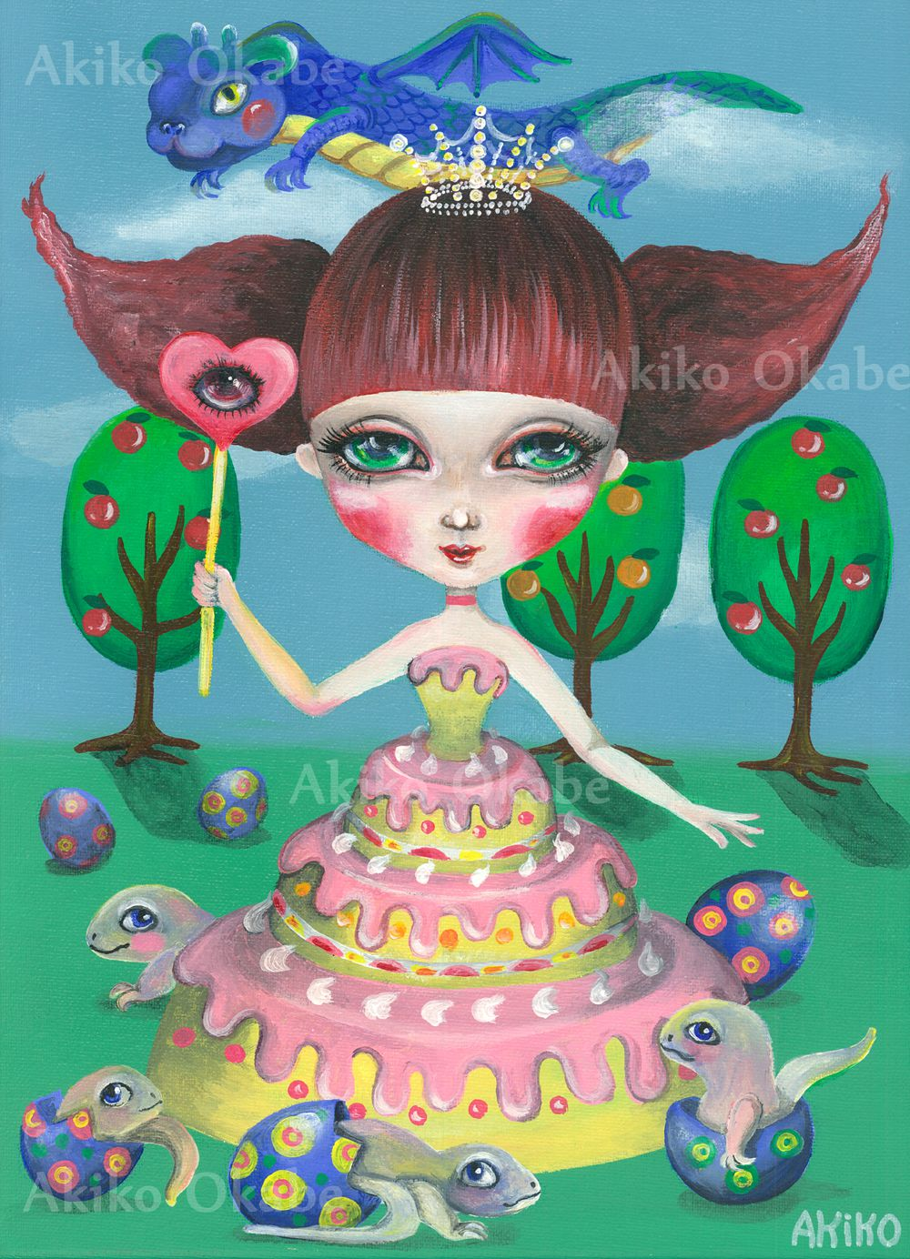 girl birthday sweets cake gift monster popsurrealism
