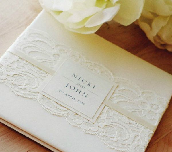 invitations vantage wedding lace paper