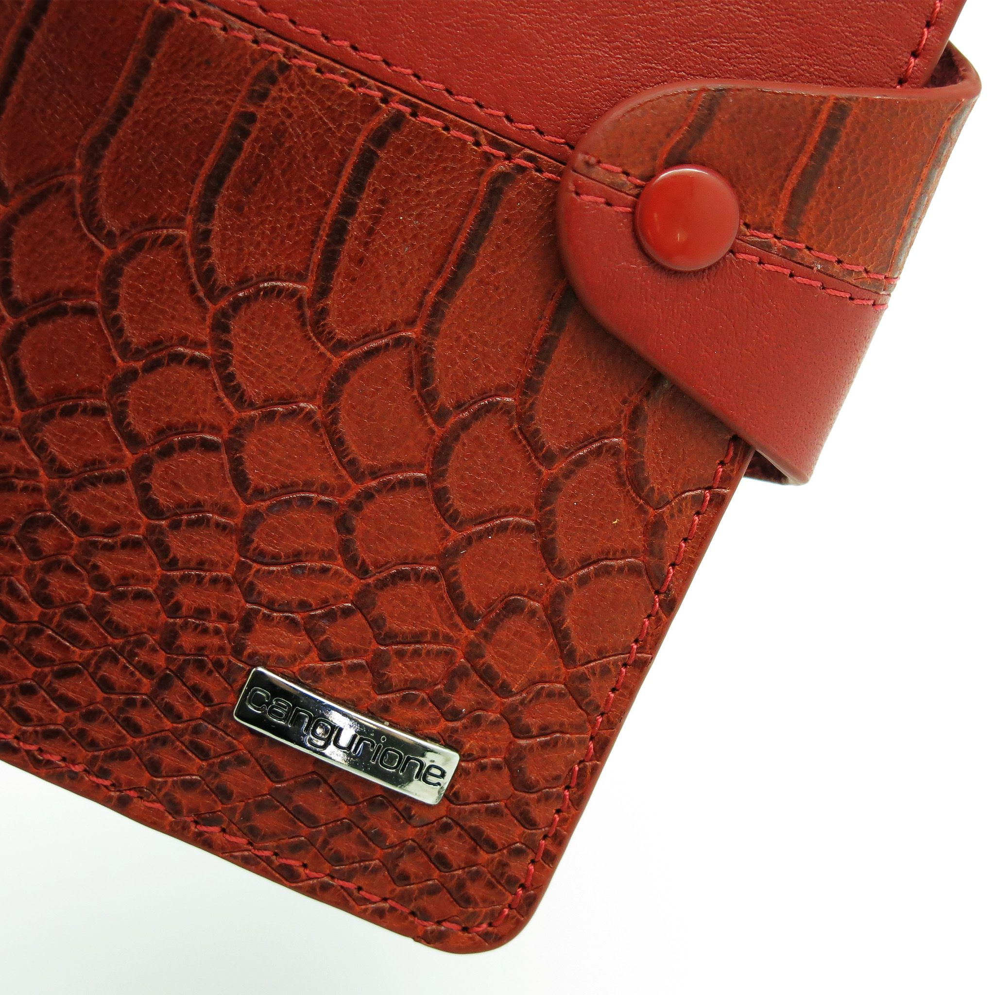 cover leather crocodile red handmade passport