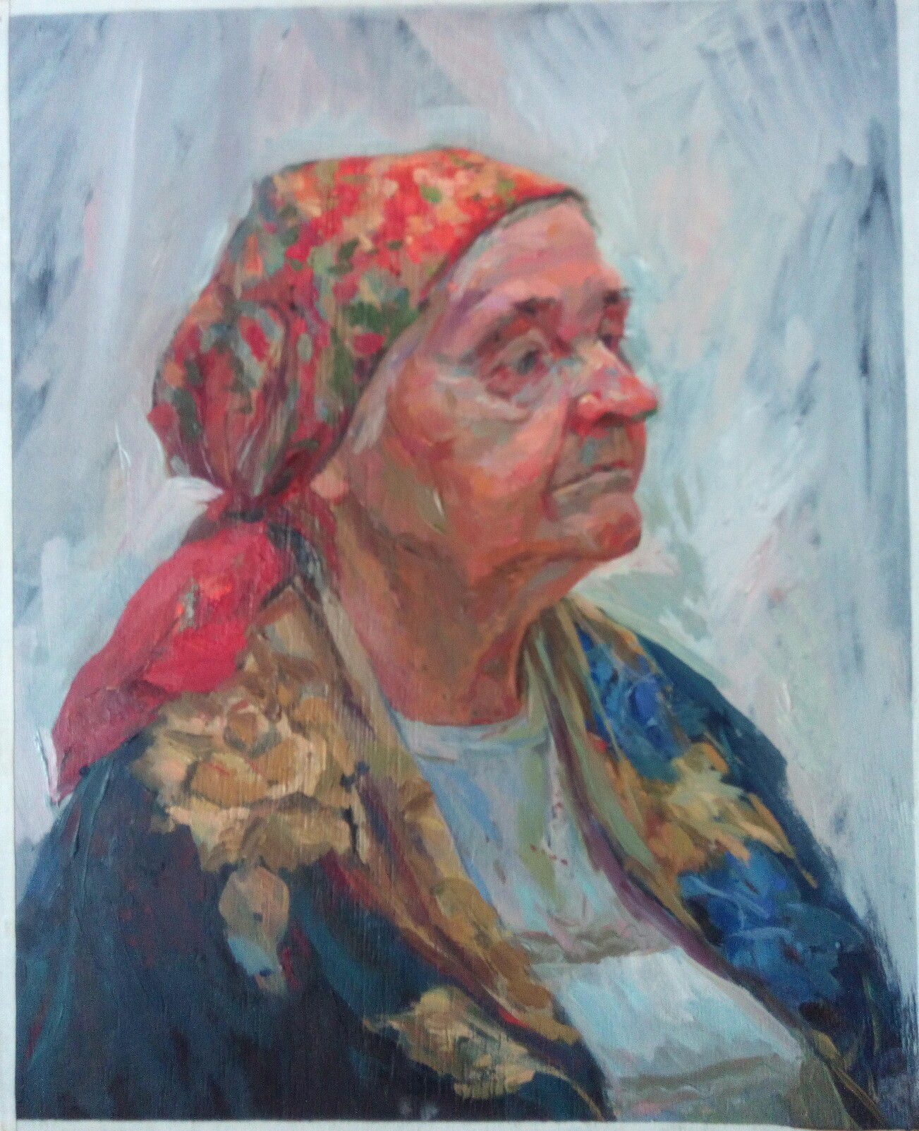 kerchief red painting art