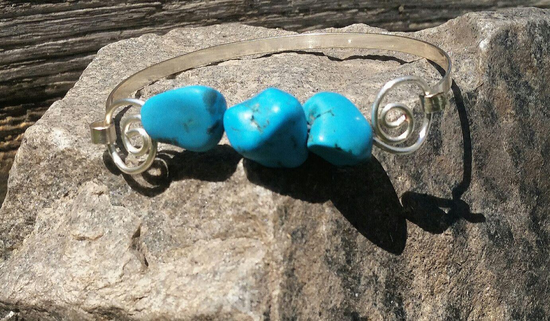 gift artist turquoise handmade bracelet silver