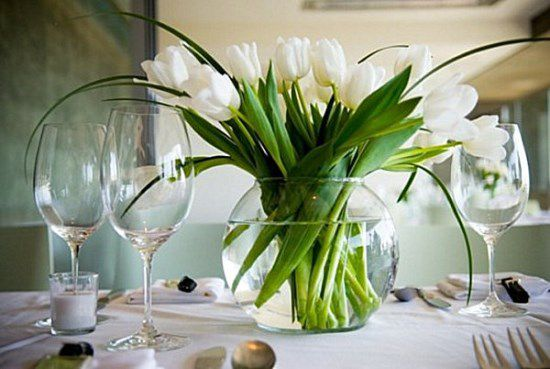 flowers dining decorate table room