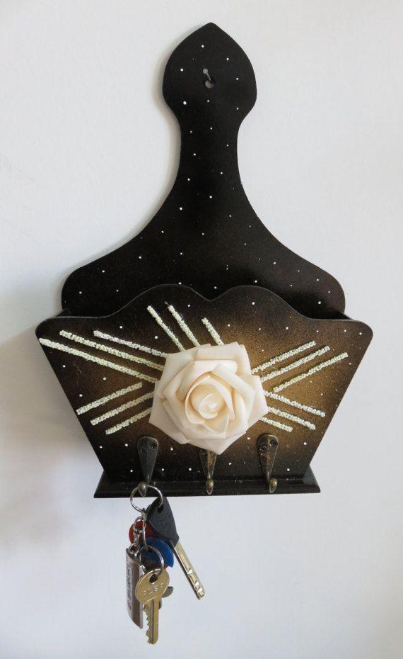 letter bronze holder organizer key mail brass hooks