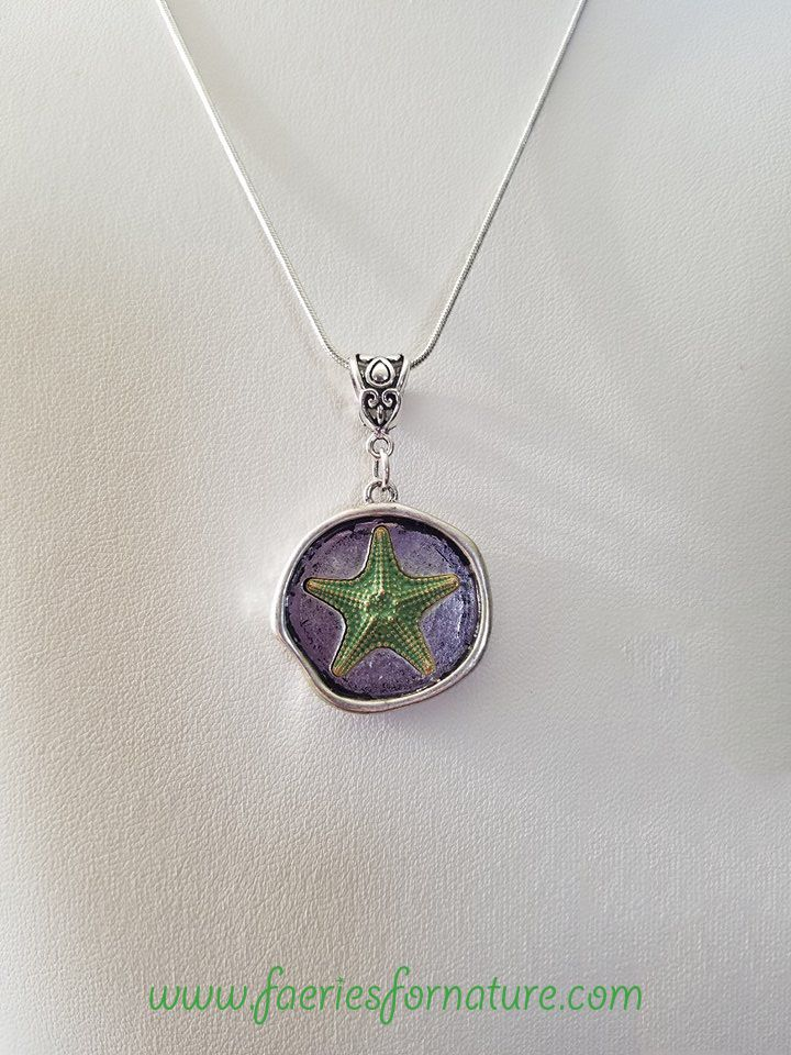 nautical star beach pendant gift ocean jewelry necklace fish mermaid starfish for her
