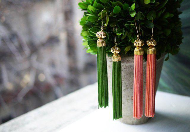 vintage cool accessories cute earrings diy ysl tassel