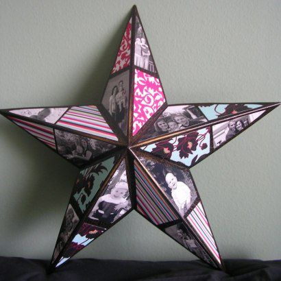 idea handmade gift star present photo tutorial glue photos diy