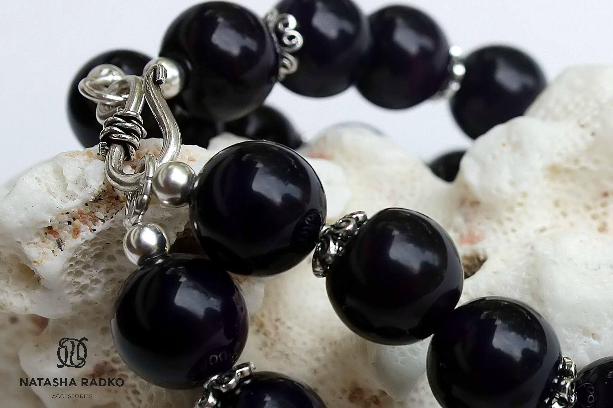 present agate wristlet jewelry silver