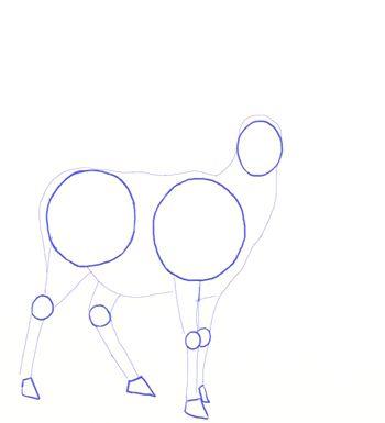 color deer draw pencil art