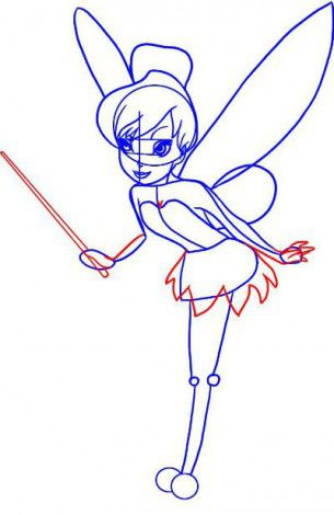 color lines fairies draw pencil art