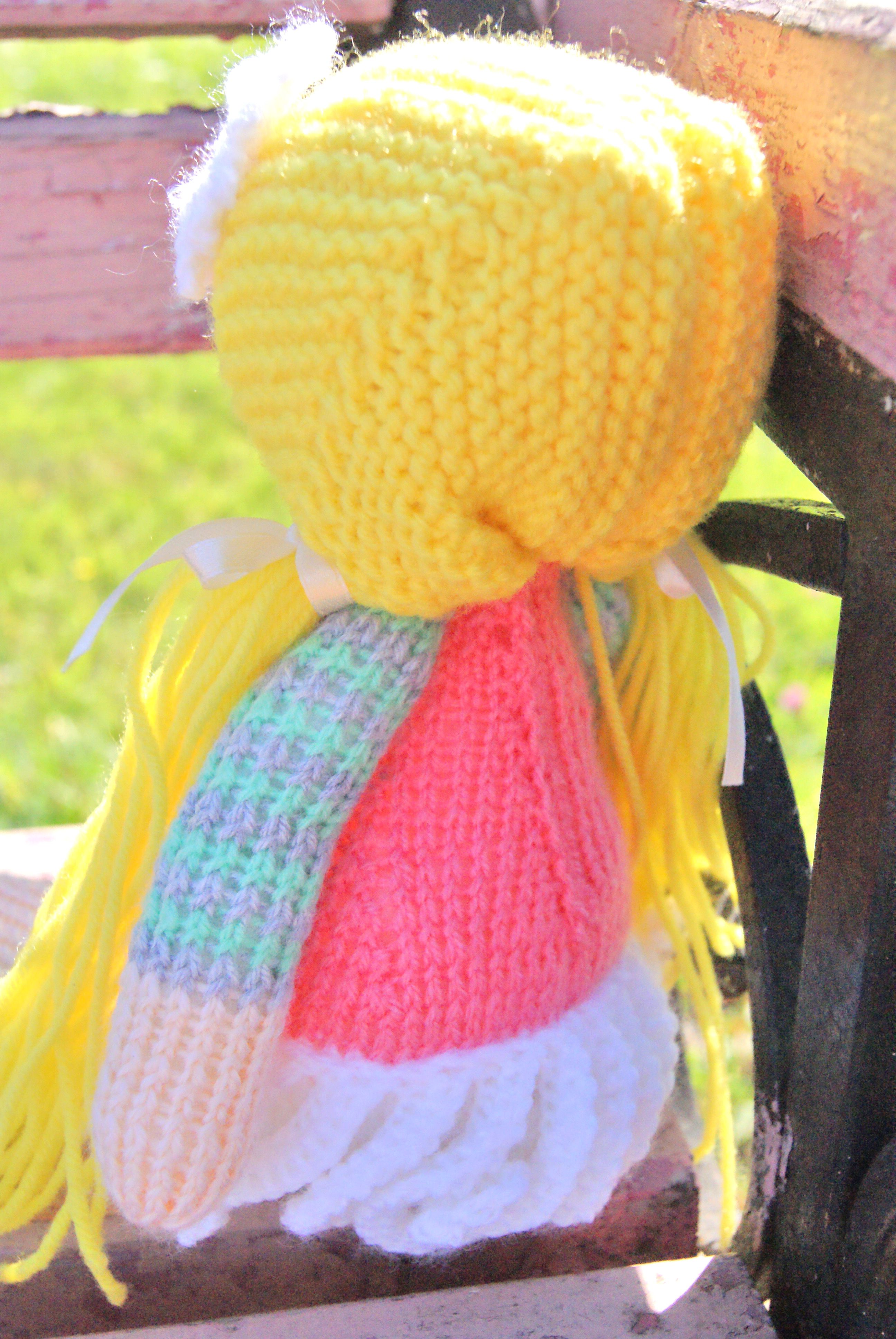 girl children doll gift knit interiordoll