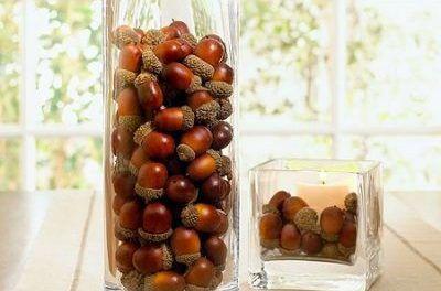 decor crafting acorns fall painting