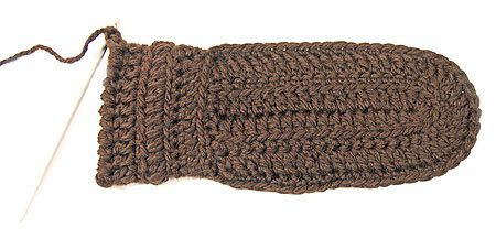 goods instruction crochet textile mittens