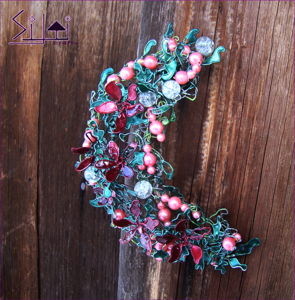 bohemian hanger boho wall romantic magical floral moon door flower victorian