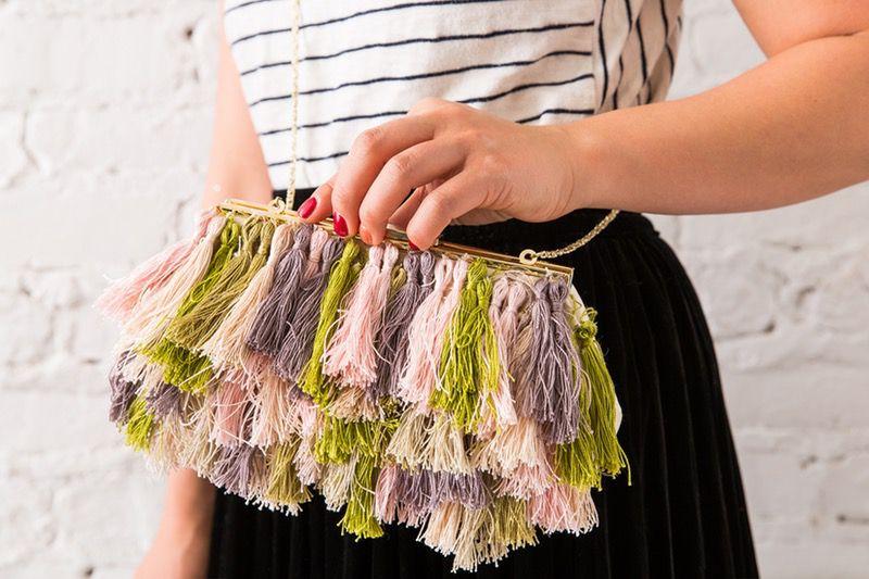 fashion cool purse clutch style tassel