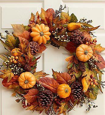 decor wreath fall branches make