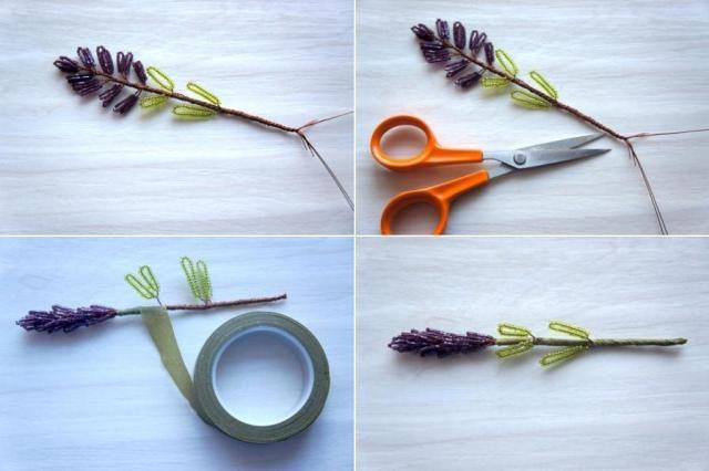 bouquet decoration diy lavender creativeidea handmade handicraft beads homedecor