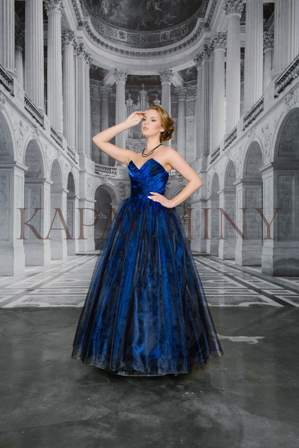 eveningdress kapachiny dress blue chameleon