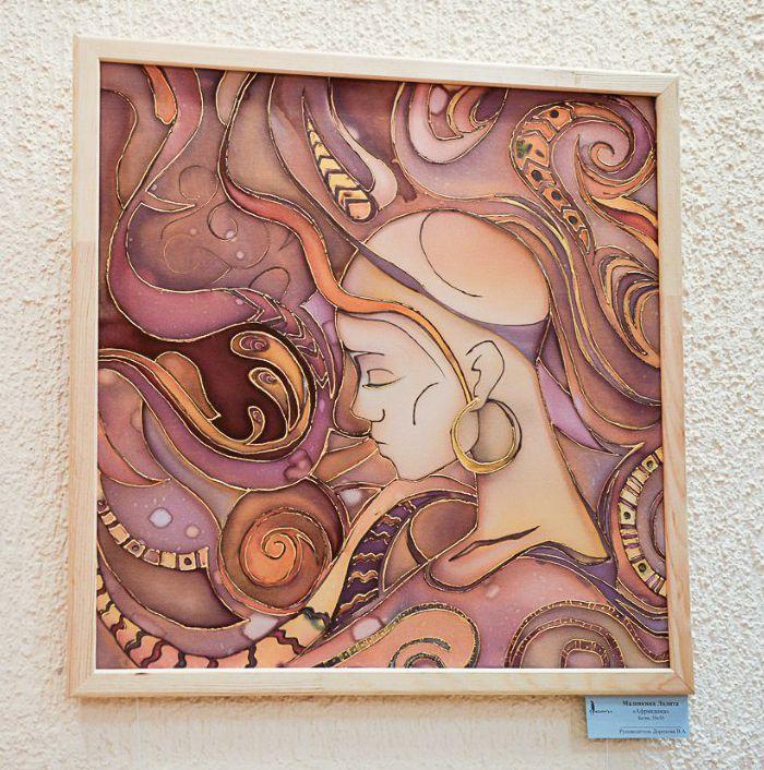 portrait interior batik picture painting art