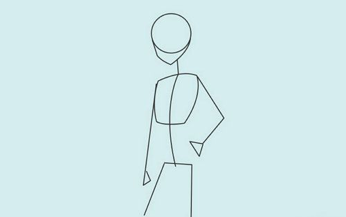anime girl schoolgirl draw art
