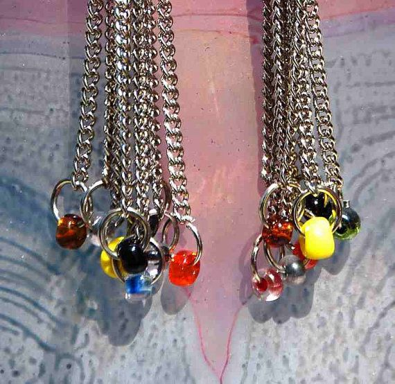 earrings chains multicolored dangle stylish modern ooak beads glass sexy chandelier