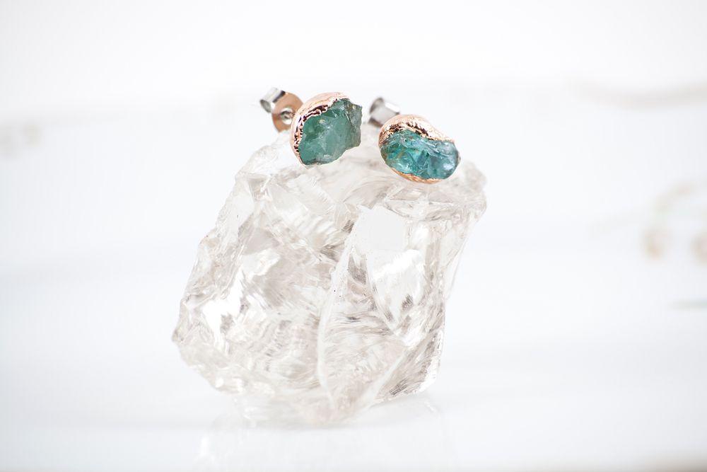studearrings blueapatite blueearrings mudlakemetals copperjewelry