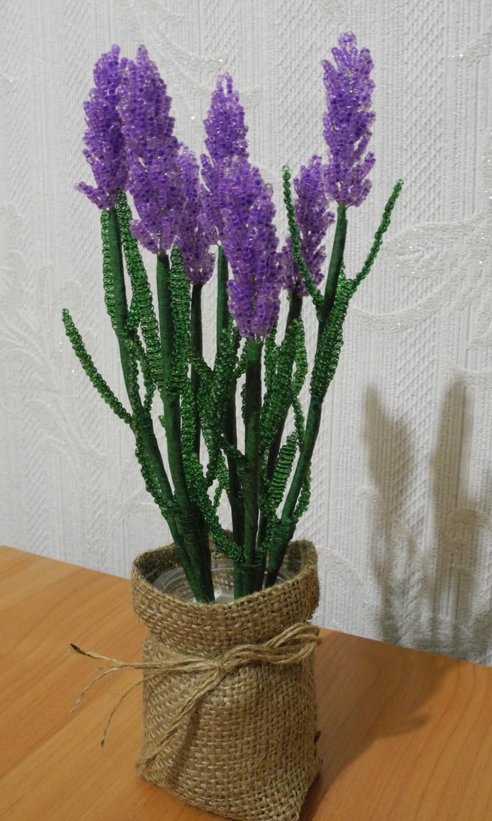 homedecor handicraft creativeidea handmade beads bouquet lavender decoration diy