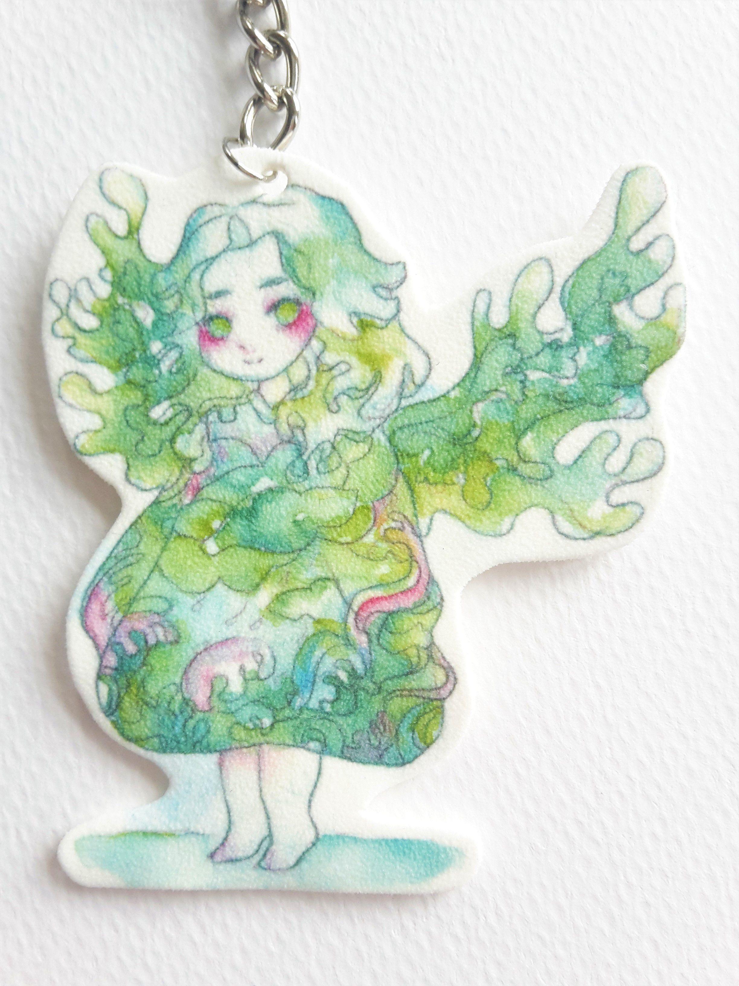 gift art cute angel charm keychain small fantasy anime manga adorable